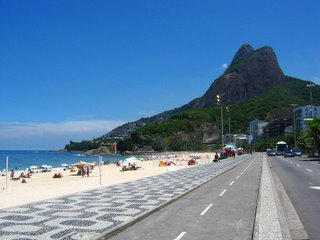 Beach in Leblon, Rio De Janeiro, Brazil