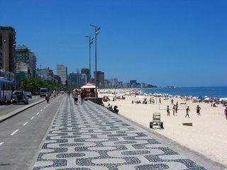 Beach at Leblon, Rio De Janeiro, Brazil